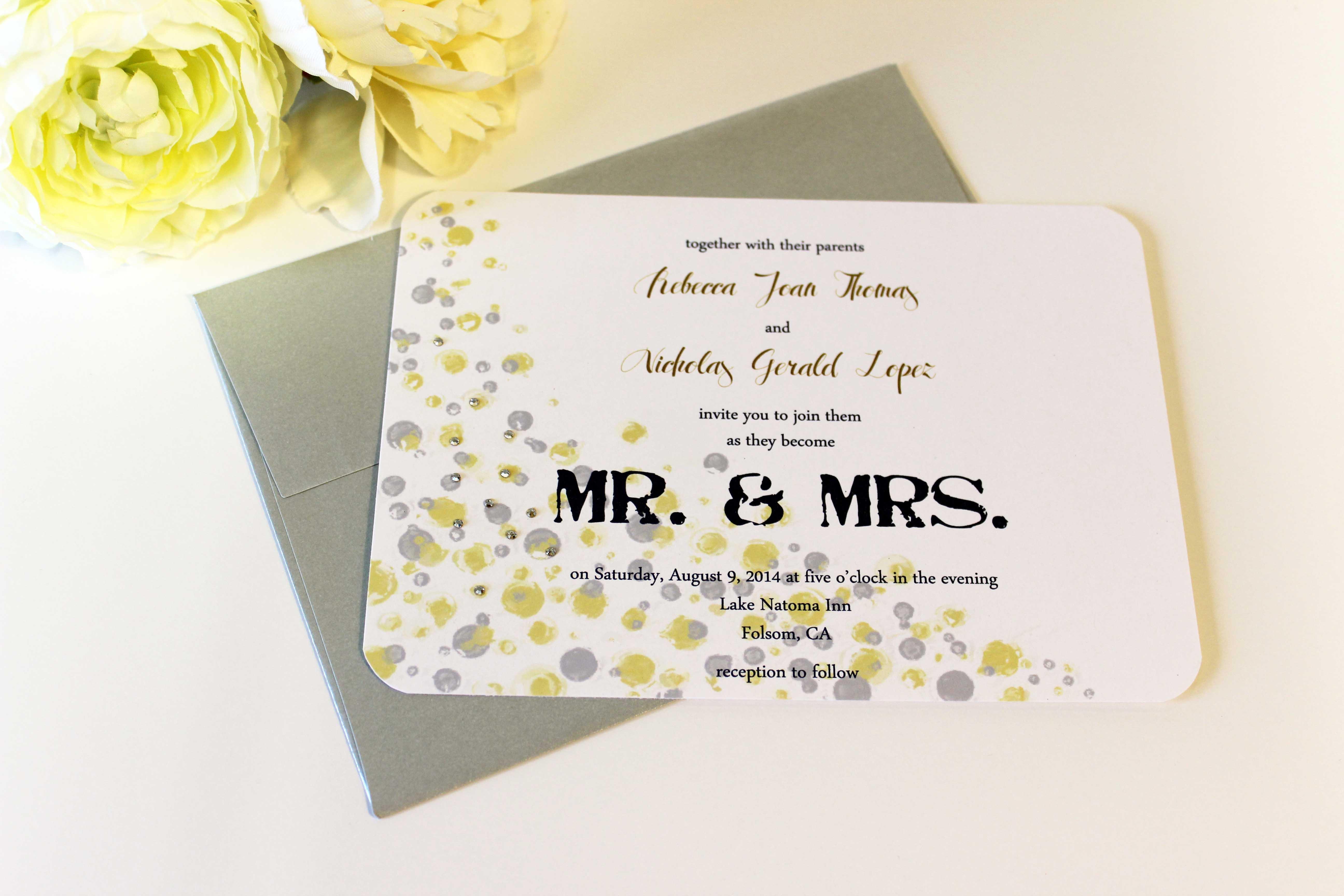 Wedding Invitation Information Request