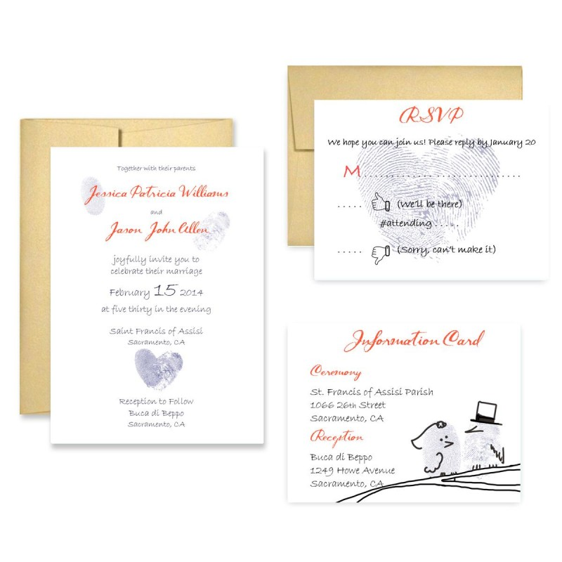 Wedding Invitation Thumbprint